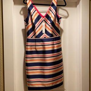 NWT Trina Turk Krystal Stripe Twill Sheath Dress 8